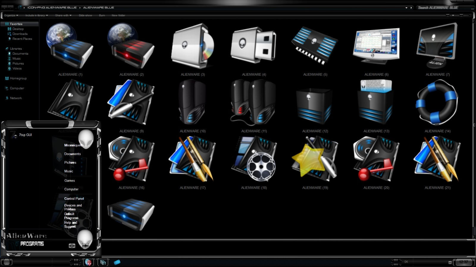 Alienware Icons Png Alienware Blue Icon Pack