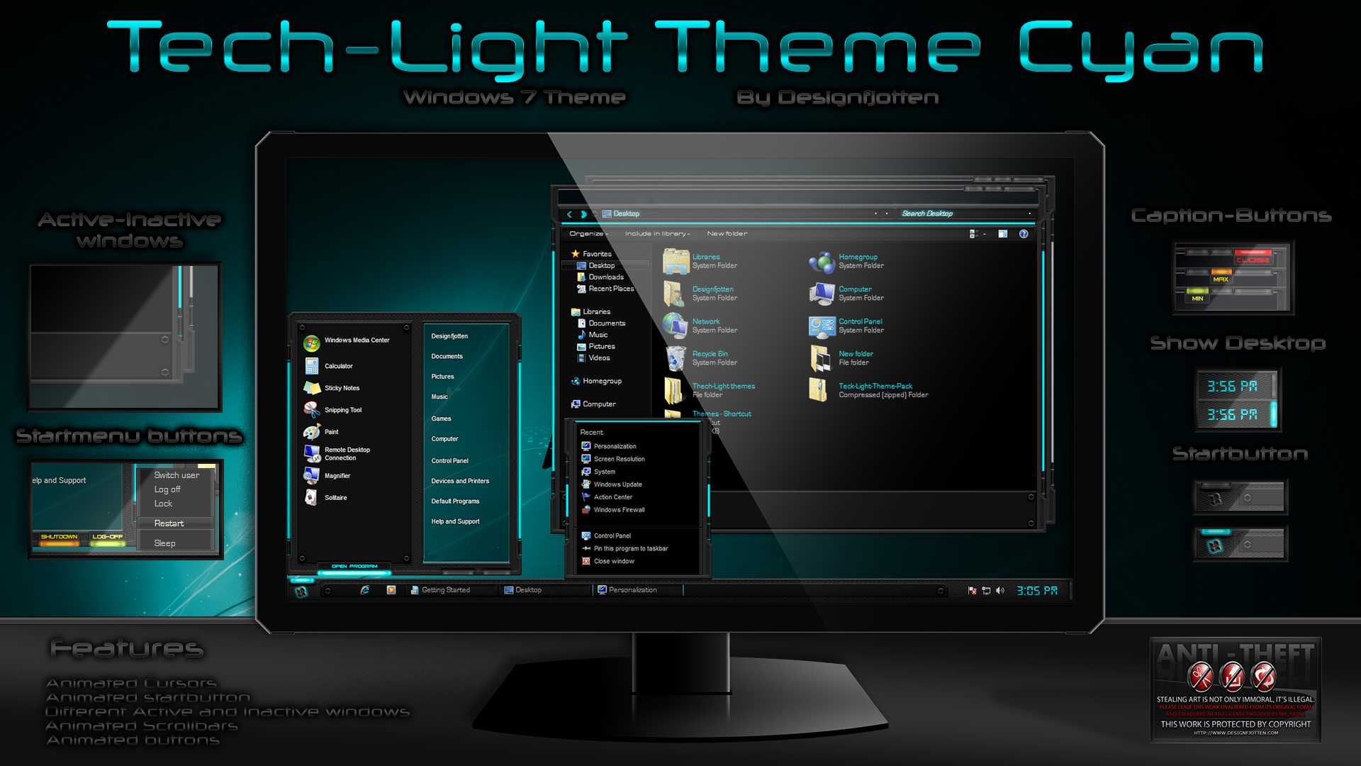 Windows 7 hidden themes | wasikovee.