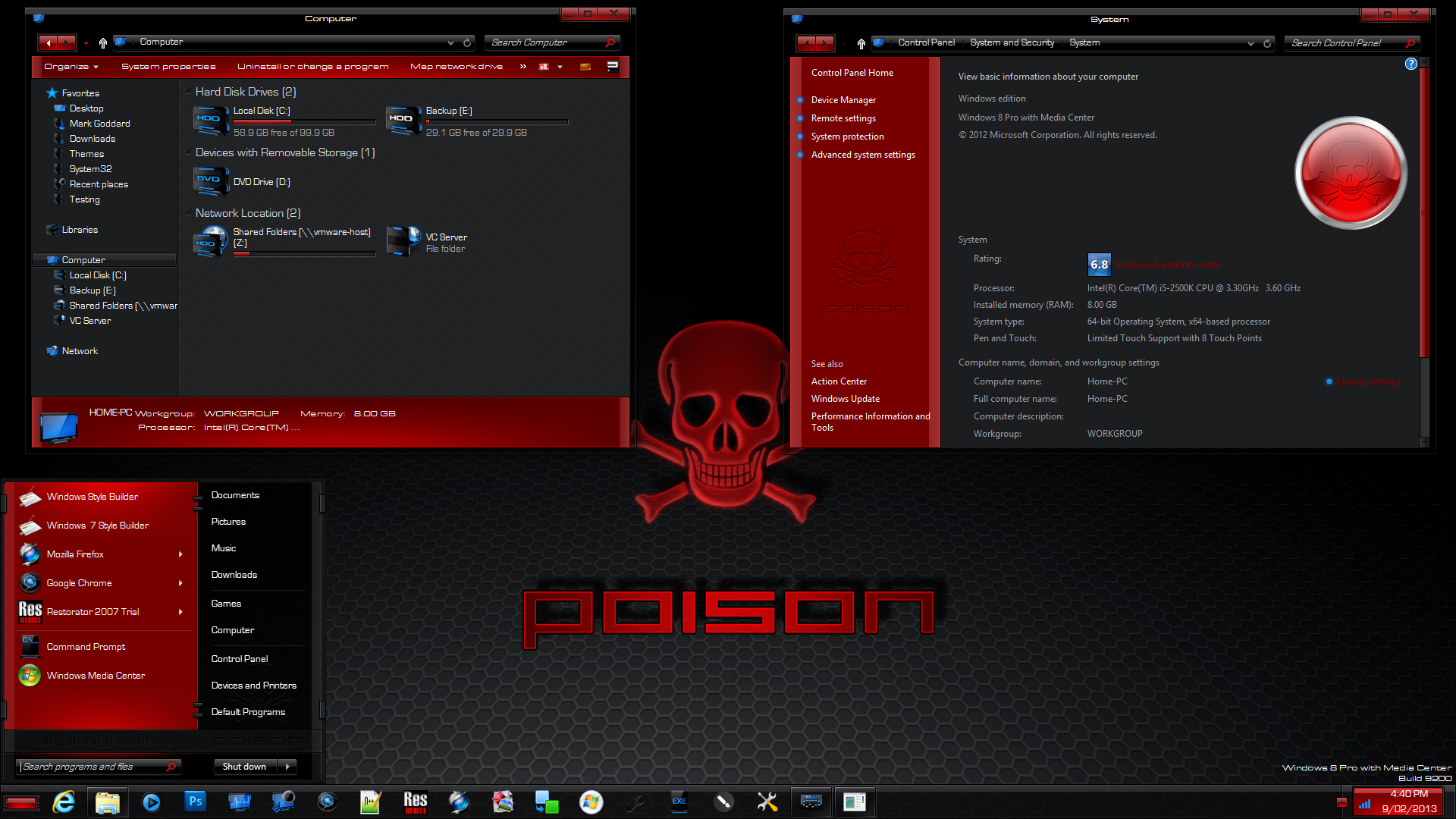 Poison Theme for Win8