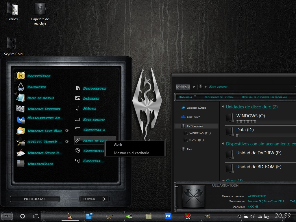 skyrim cold steel by razorsedge windows 10 theme page 3