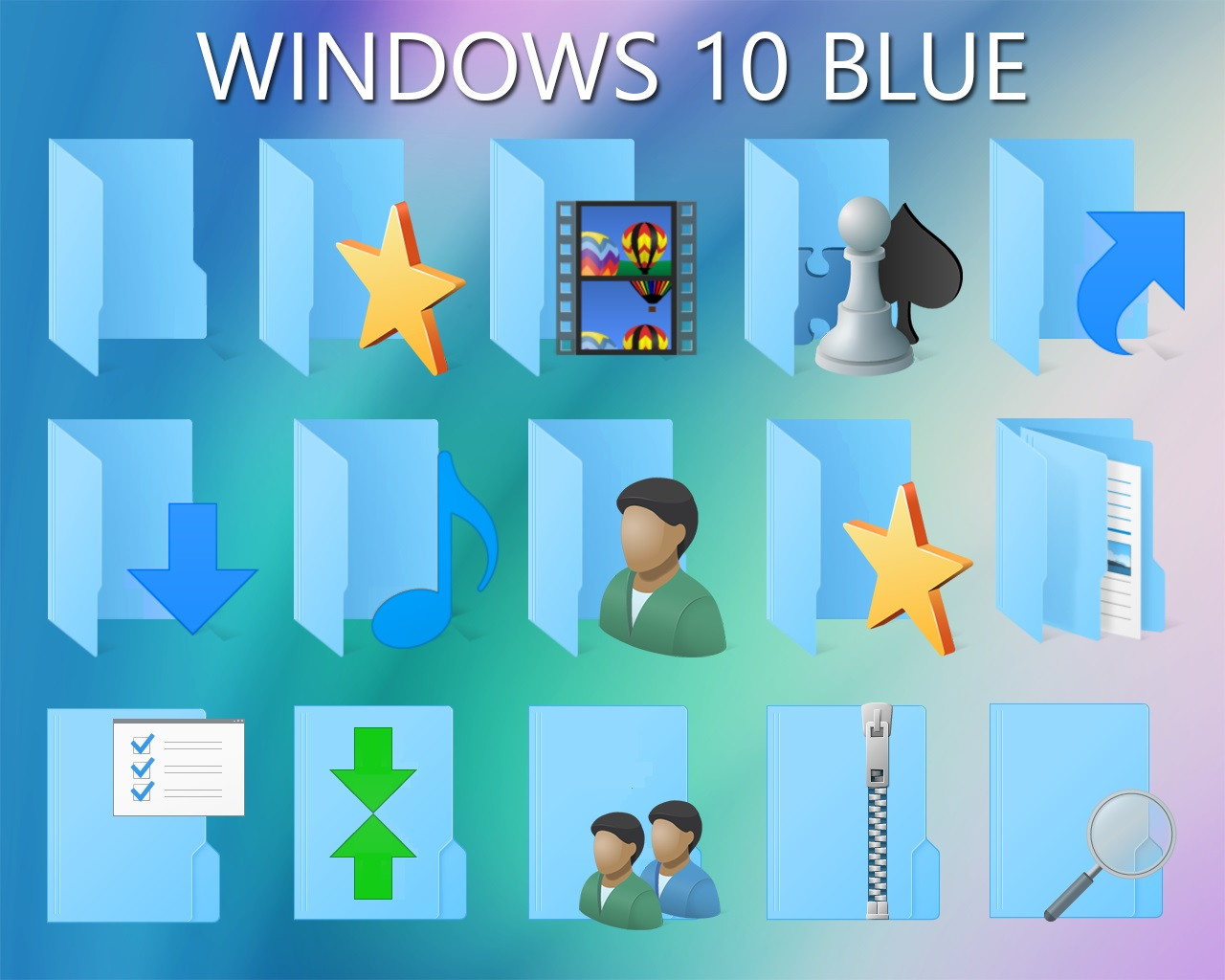 Windows 10 Blue Icon Pack