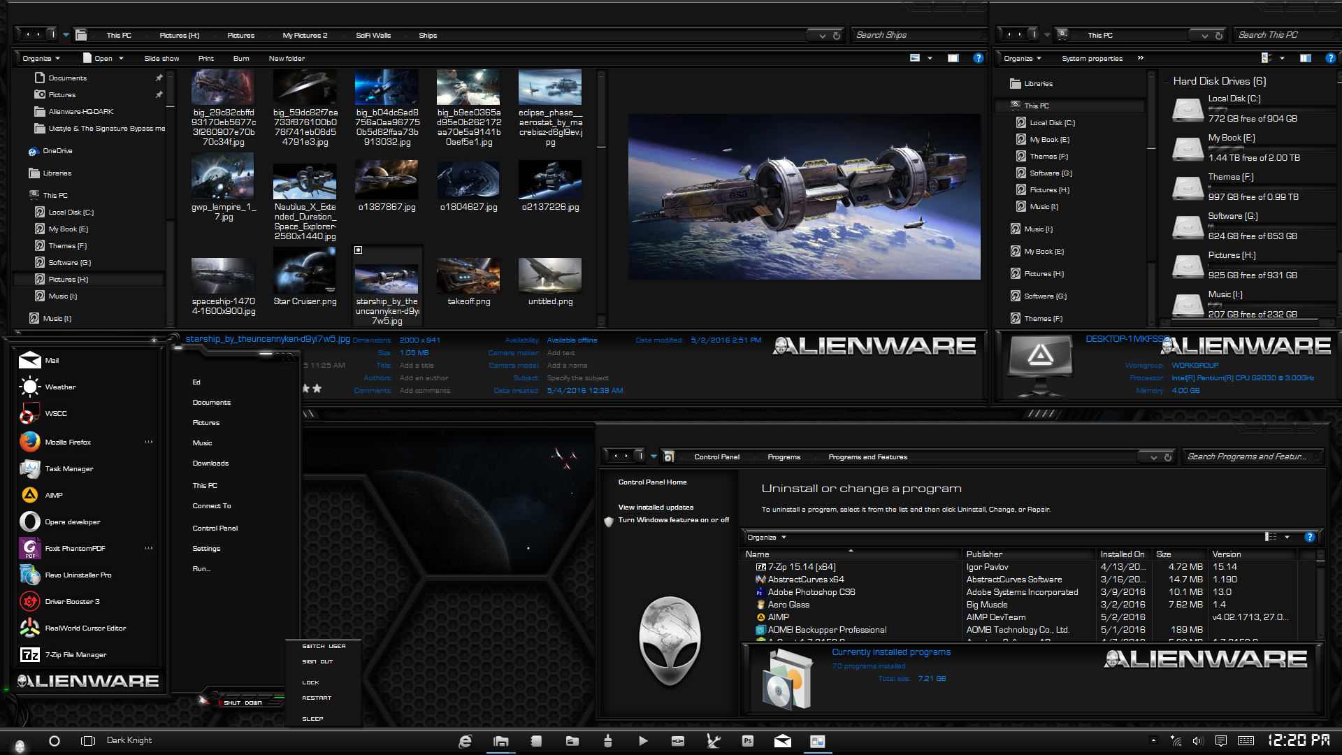 alienware software for windows 10